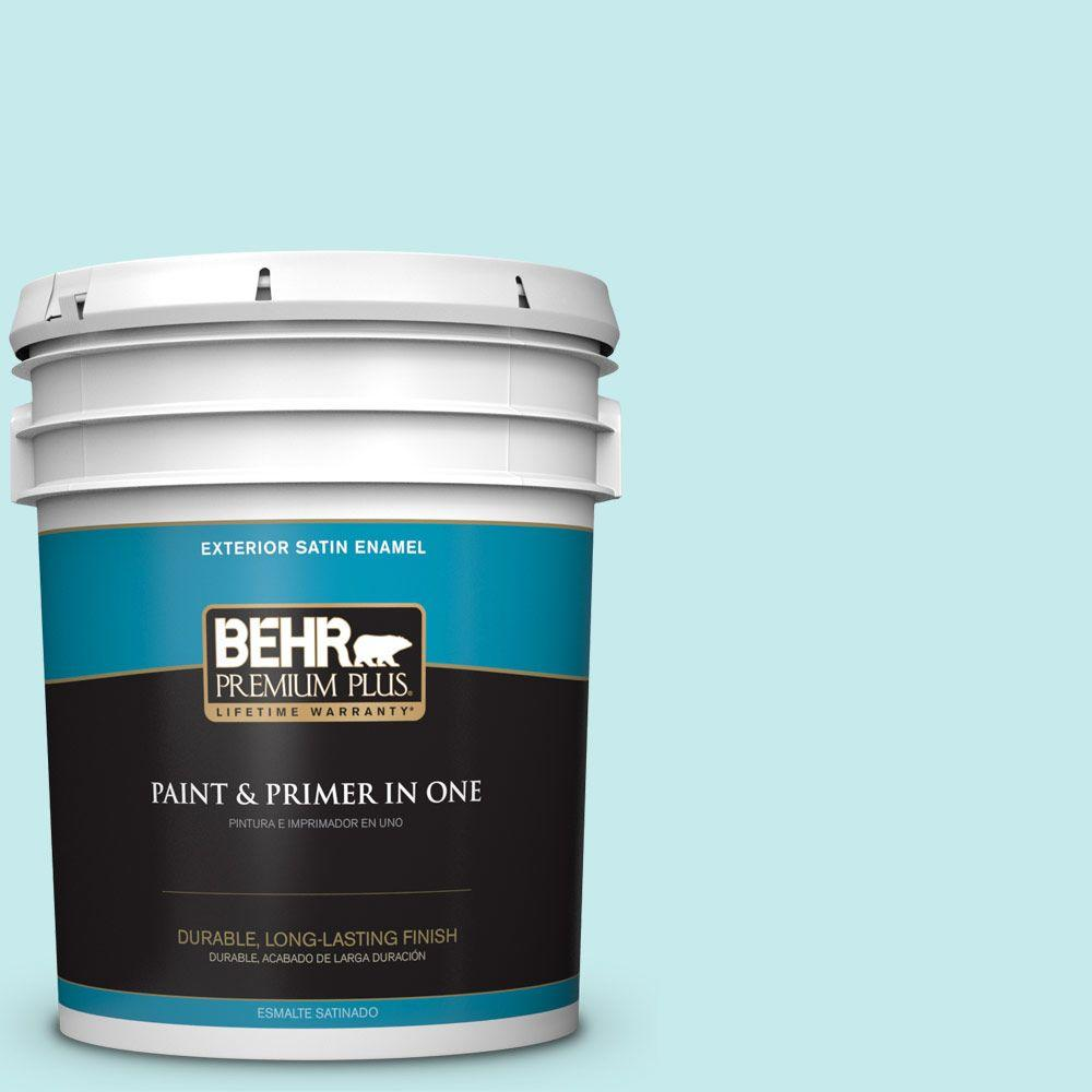 5-gal. #P460-1 Morning Sky Satin Enamel Exterior Paint
