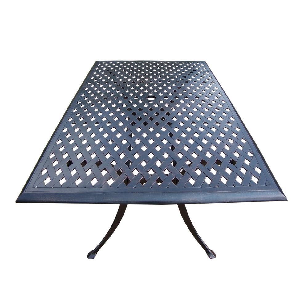 Rose Aluminum Rectangular Outdoor Dining table