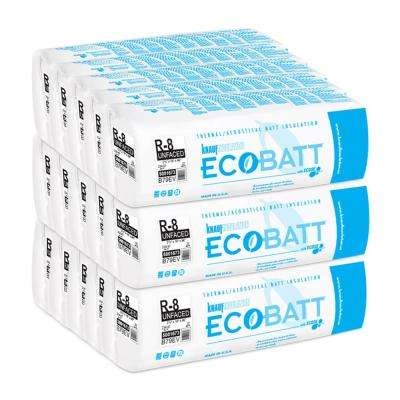R-8 Unfaced Fiberglass Insulation Eco Batt 2-1/2 in. x 16 in. x 96 in. (15 Bags)
