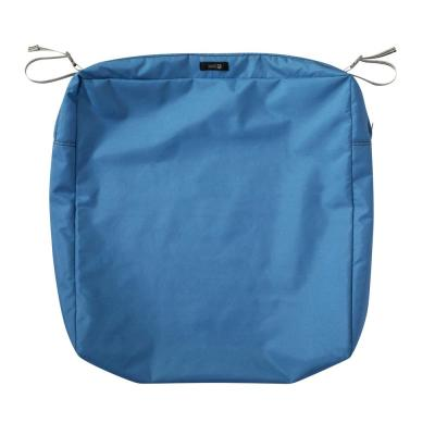 Ravenna Water-Resistant 25 in. x 25 in. x 5 in. Patio Seat Cushion Slip Cover, Empire Blue