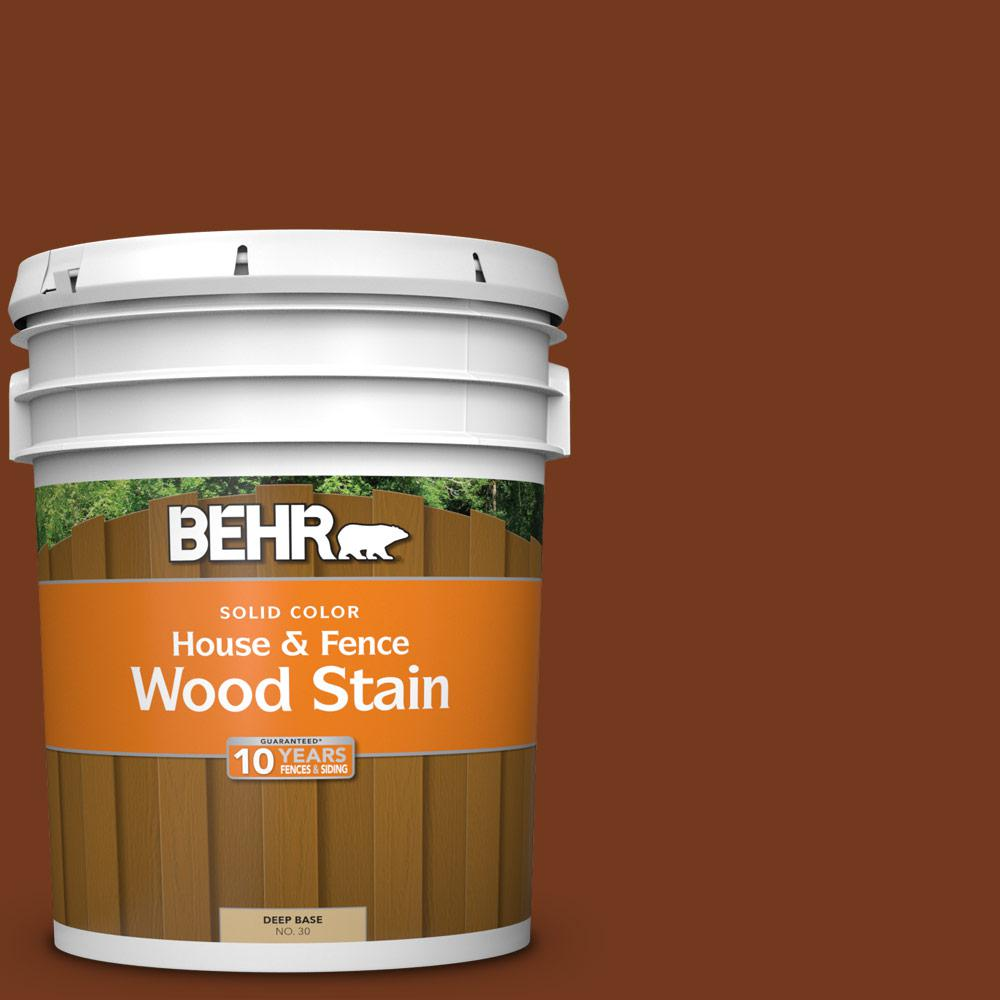 Woodbridge Home Exteriors: BEHR 5 Gal. #SC-116 Woodbridge Solid House And Fence