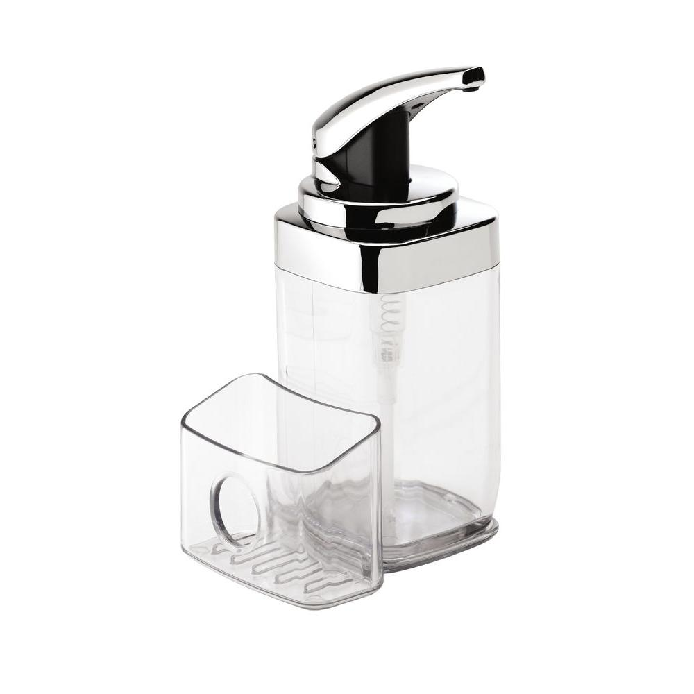 Simplehuman 22 Oz Square Push Pump With Caddy Kt1159 The Home Depot