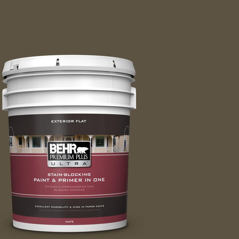 BEHR Premium Plus Ultra 5-gal. #760D-7 Moosewood Flat Exterior Paint