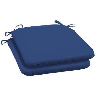 Lapis Canvas Texture Square Outdoor Seat Cushion (2-Pack)