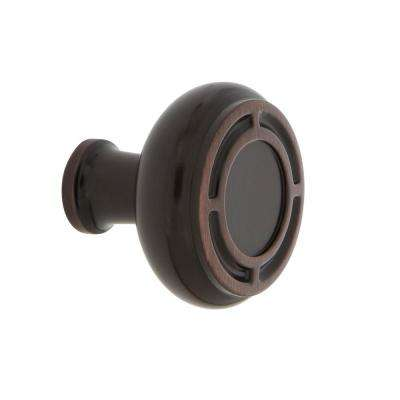 Mission 1-3/8 in. Timeless Bronze Brass Cabinet Knob