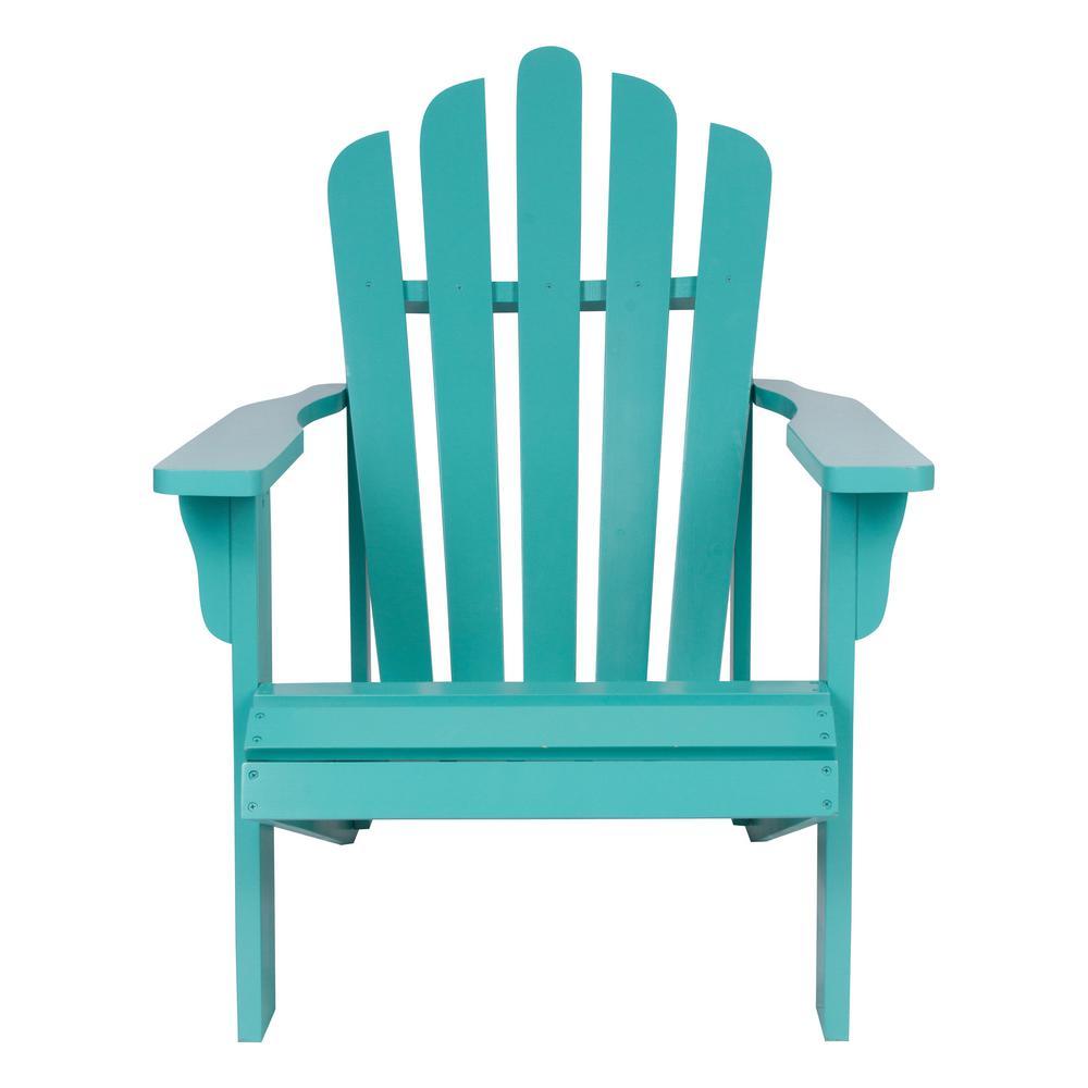 Shine Company Westport Aqua Cedar Wood Adirondack Chair