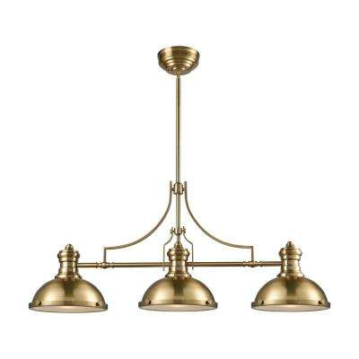 Chadwick 3-Light Satin Brass Billiard Light