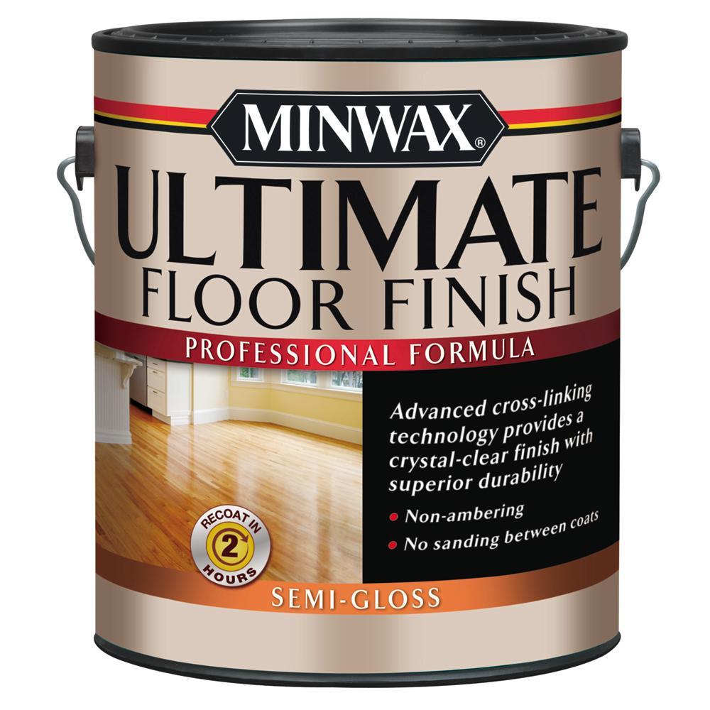 1 gal. Ultimate Hardwood Floor Finish Clear Semi-Gloss Interior