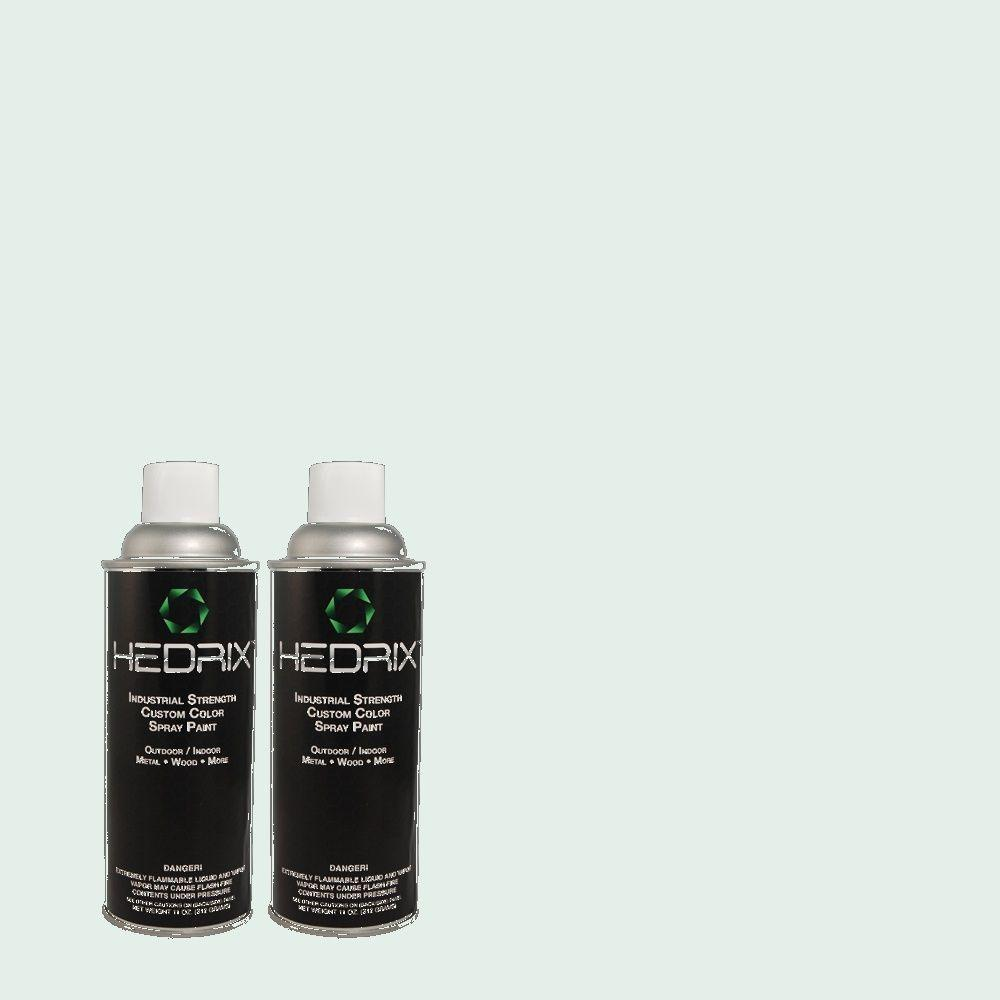 Hedrix 11 oz. Match of 510E-1 Ice Folly Low Lustre Custom Spray Paint (2-Pack)