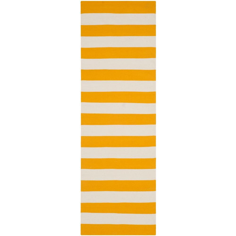 Safavieh Montauk Yellow/Ivory 2 ft. 3 in. x 6 ft. Runner
