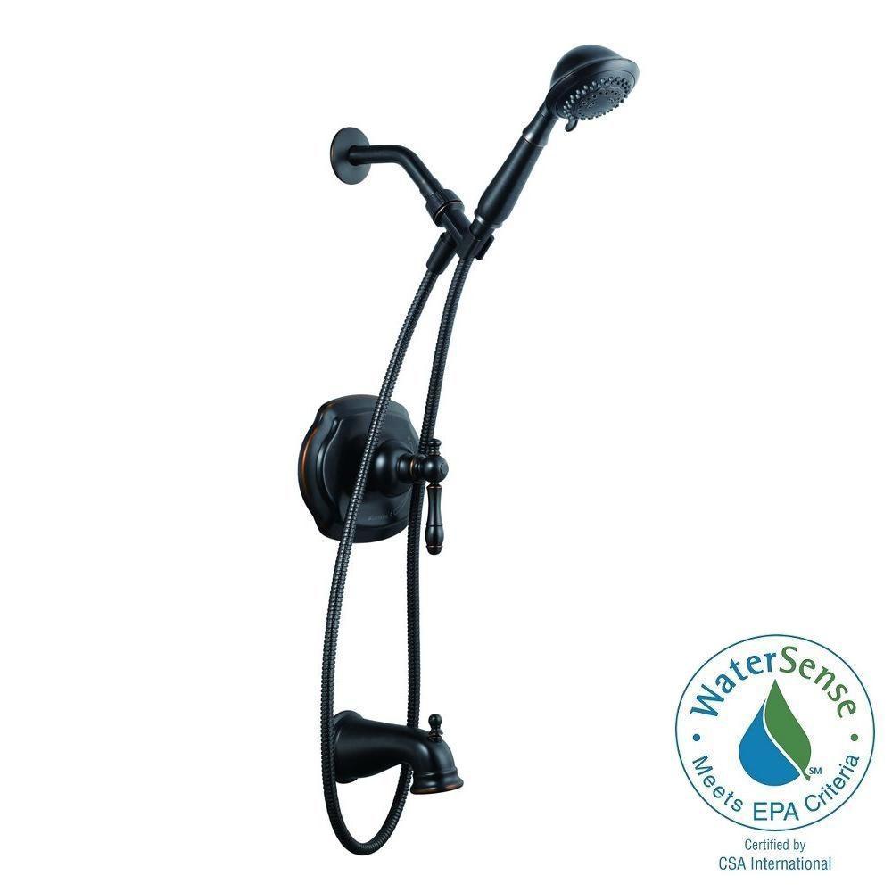 Lyndhurst Single-Handle 5-Spray Tub and Shower Faucet with Handshower in Mediterranean Bronze