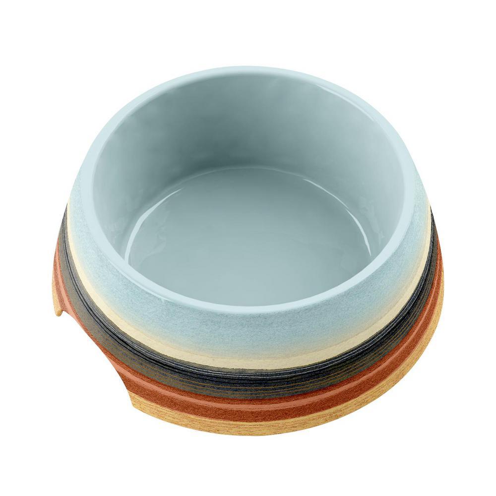 Desert Stripe Medium Pet Bowl in Ombre