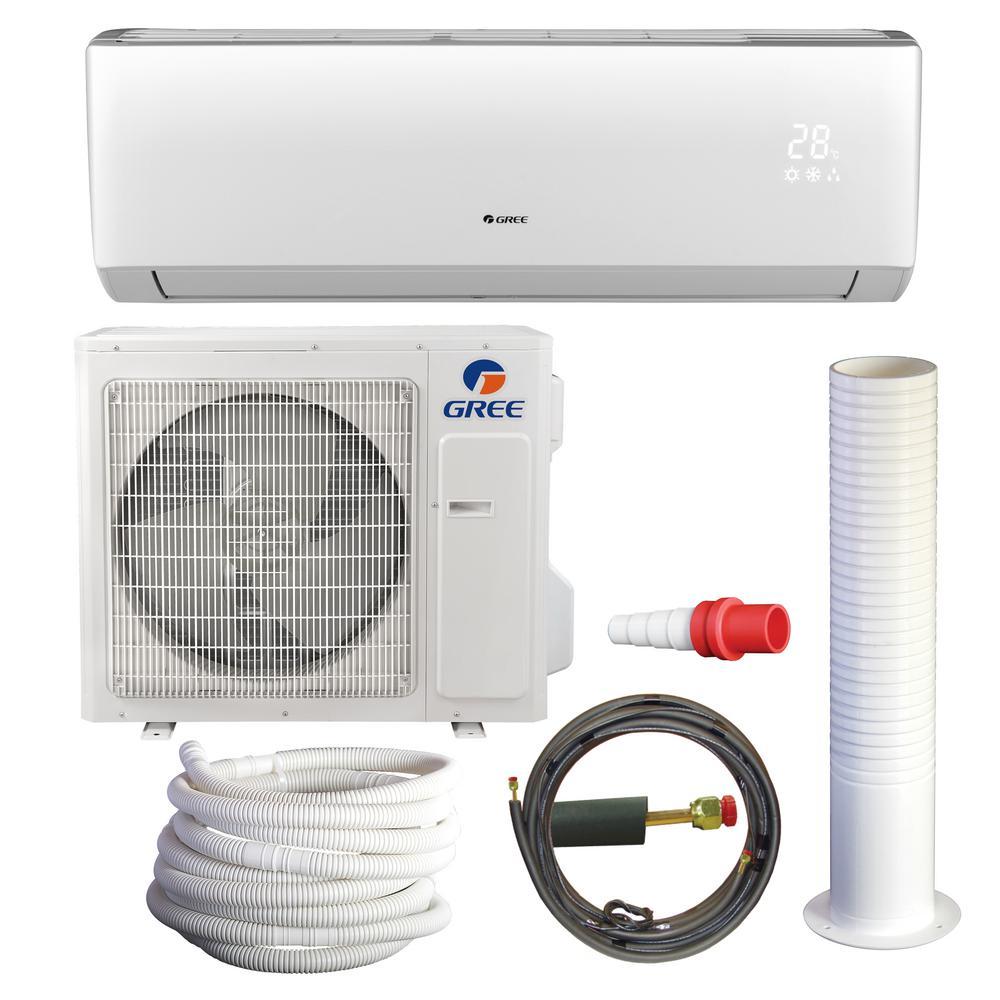 GREE LIVO 28,000 BTU 2 5 Ton Ductless Mini Split Air Conditioner with Heat  Kit - 230-208V/60Hz