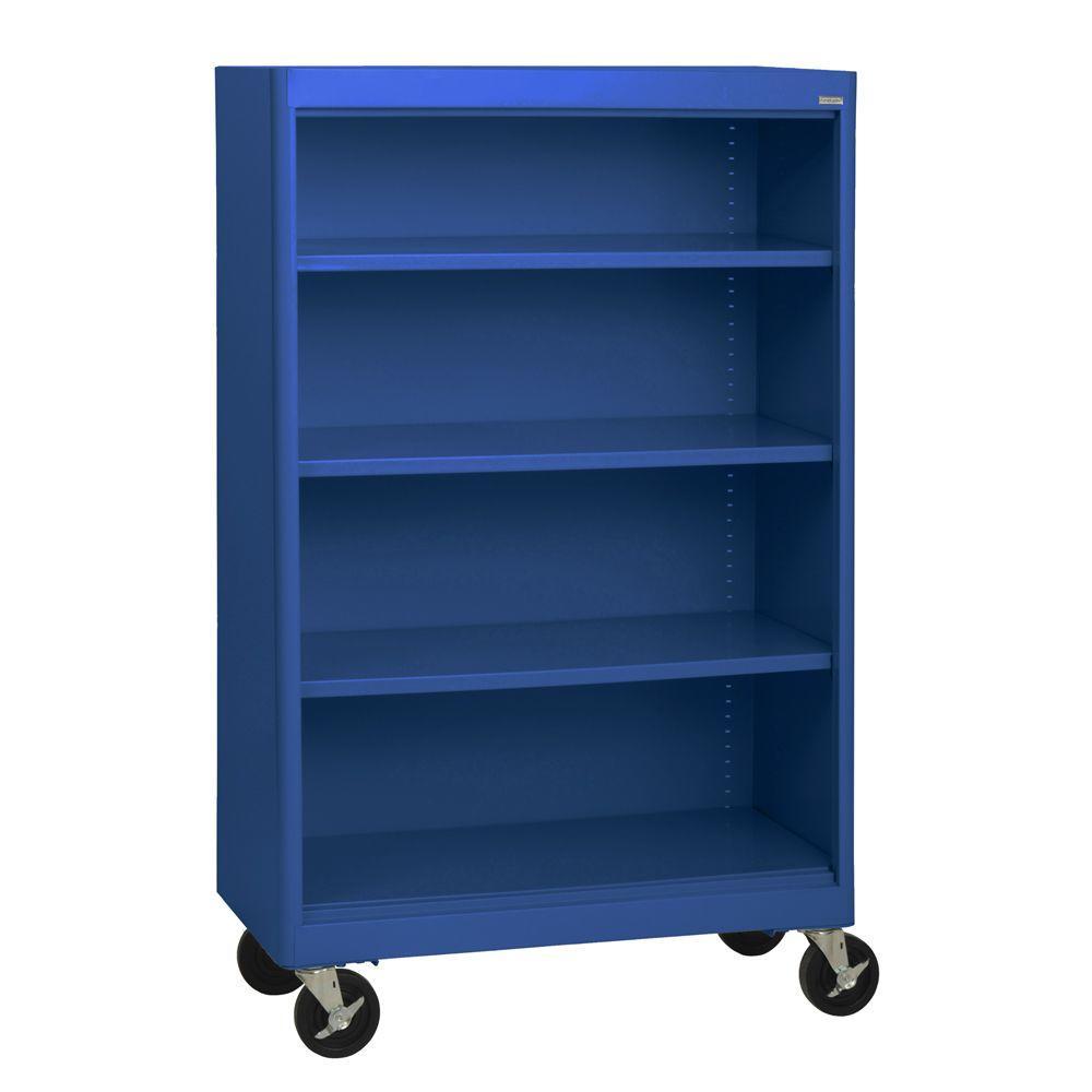 Radius Edge Blue Mobile Steel Bookcase Black Tropic Sand Forest Green