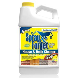 spray u0026 forget 64 oz house and deck cleaner outdoor mold remover concentrate the home depot