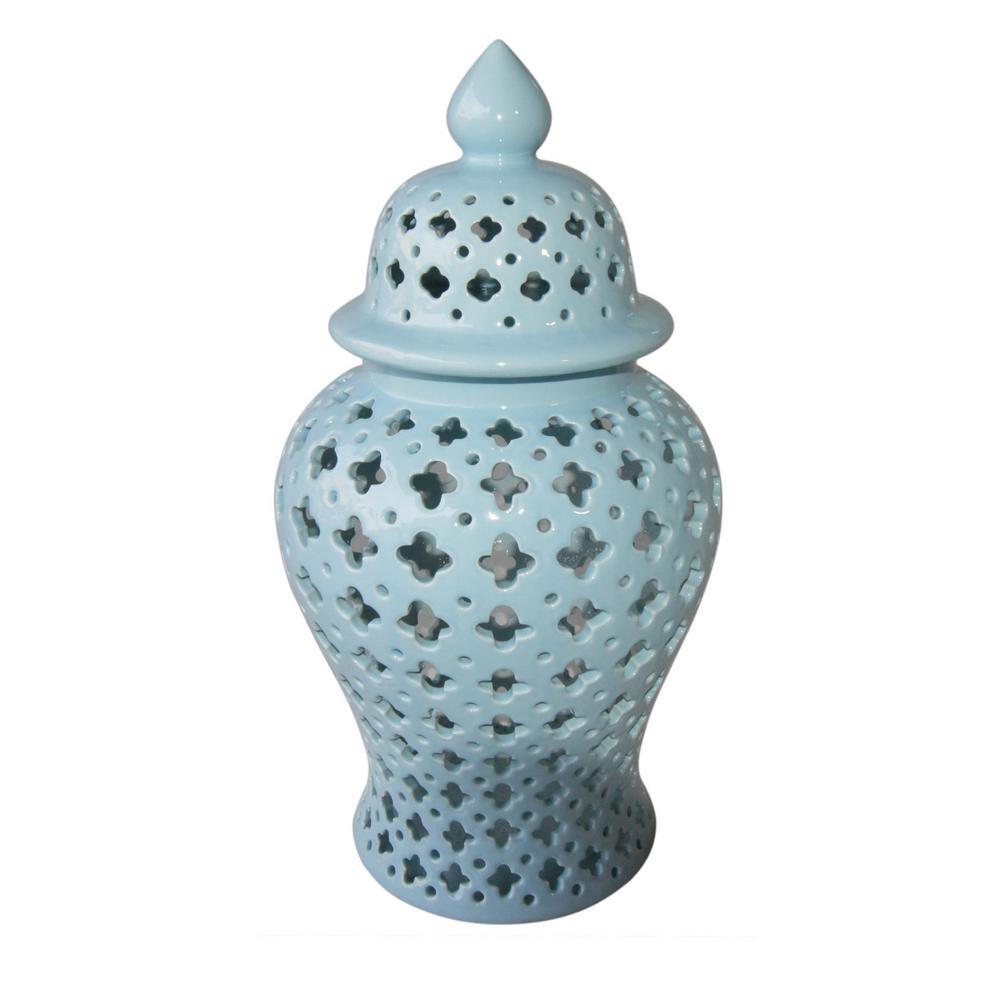18 in. Blue Lidded Jar