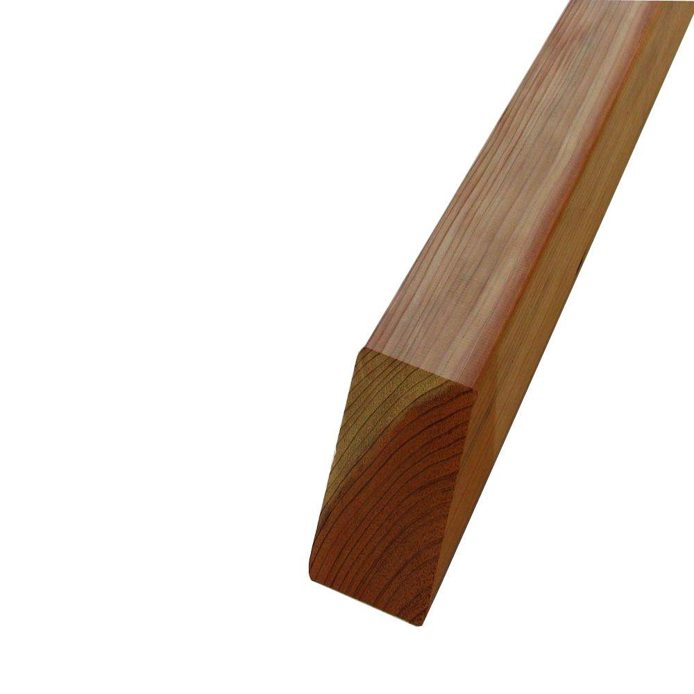 Mendocino Forest Products 4 in. x 4 in. x 4 ft. Redwood Fence Square Post
