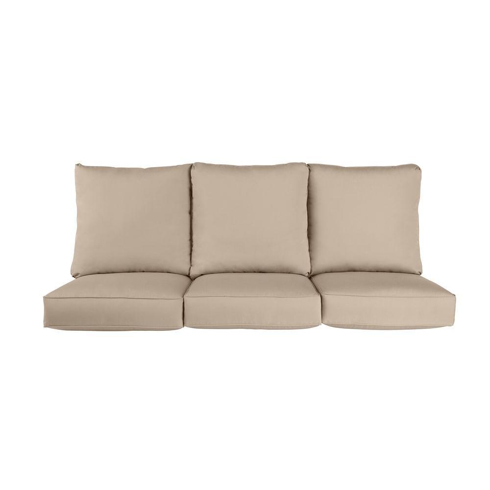 Brown Jordan Vineyard Replacement Outdoor Sofa Cushion in Sparrow