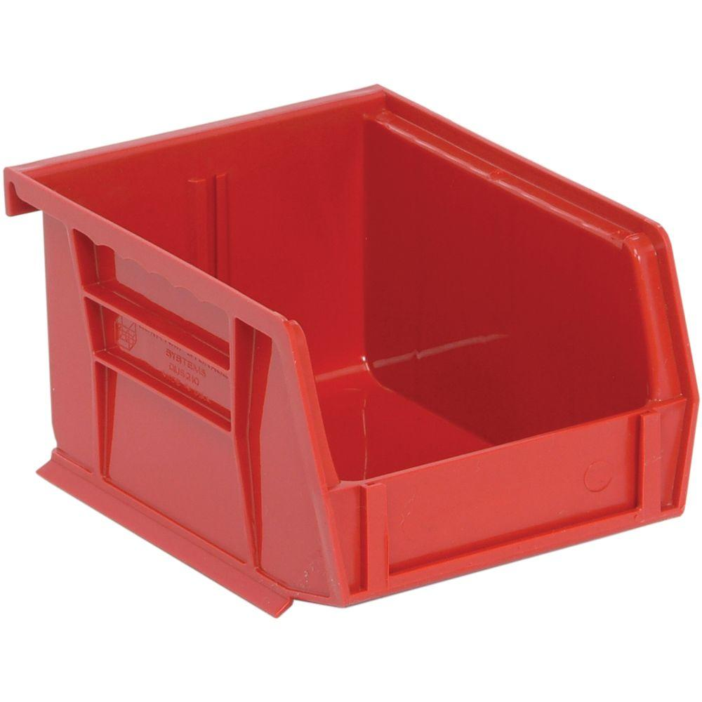 Edsal 1.15-Qt. Stackable Plastic Storage Bin in Red (24-Pack)