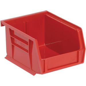 Edsal 1.15-Qt. Stackable Plastic Storage Bin in Red (24-Pack) by Edsal