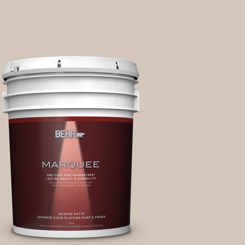 5 gal. #MQ2-50 Gravelstone One-Coat Hide Matte Interior Paint