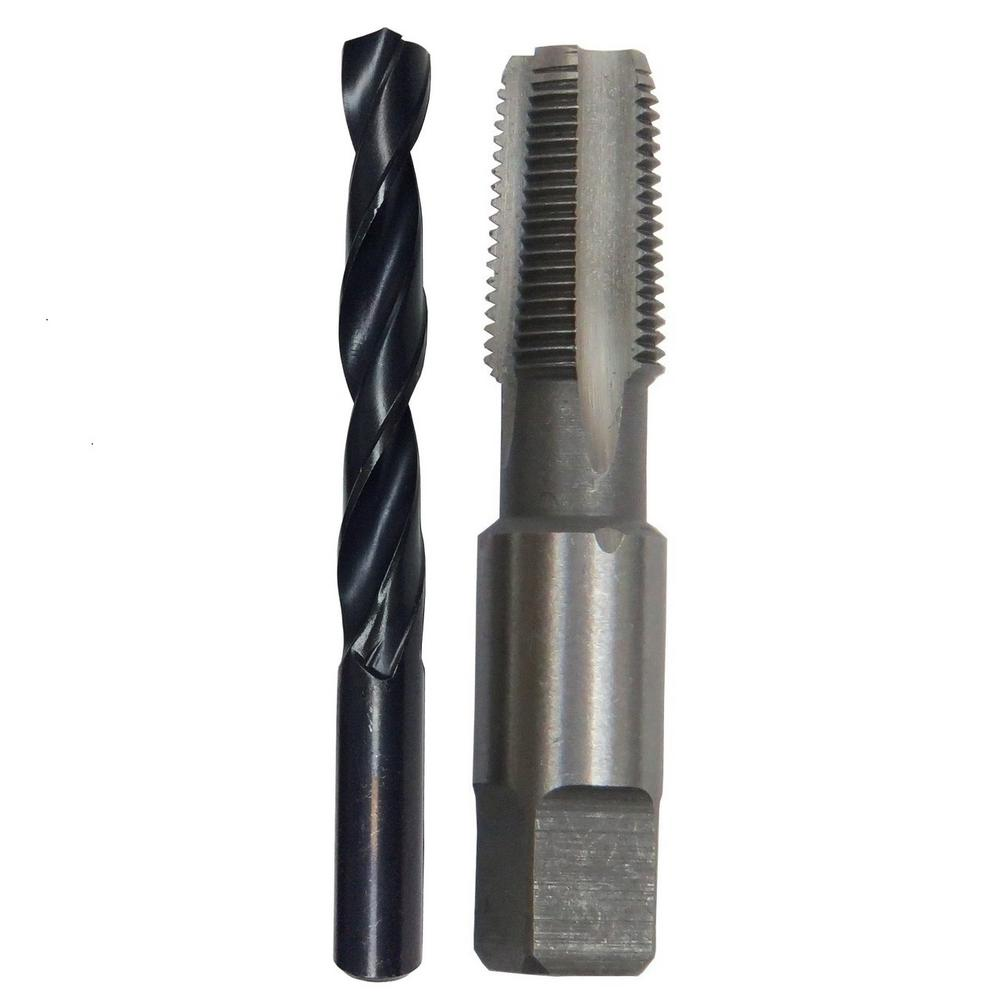 Drill america in carbon steel npt pipe tap and