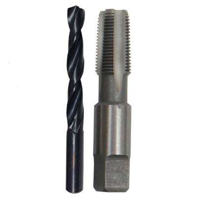 1/4 in. Carbon Steel NPT Pipe Tap and 7/16 in. High Speed Steel Drill Bit Set (2-Piece)