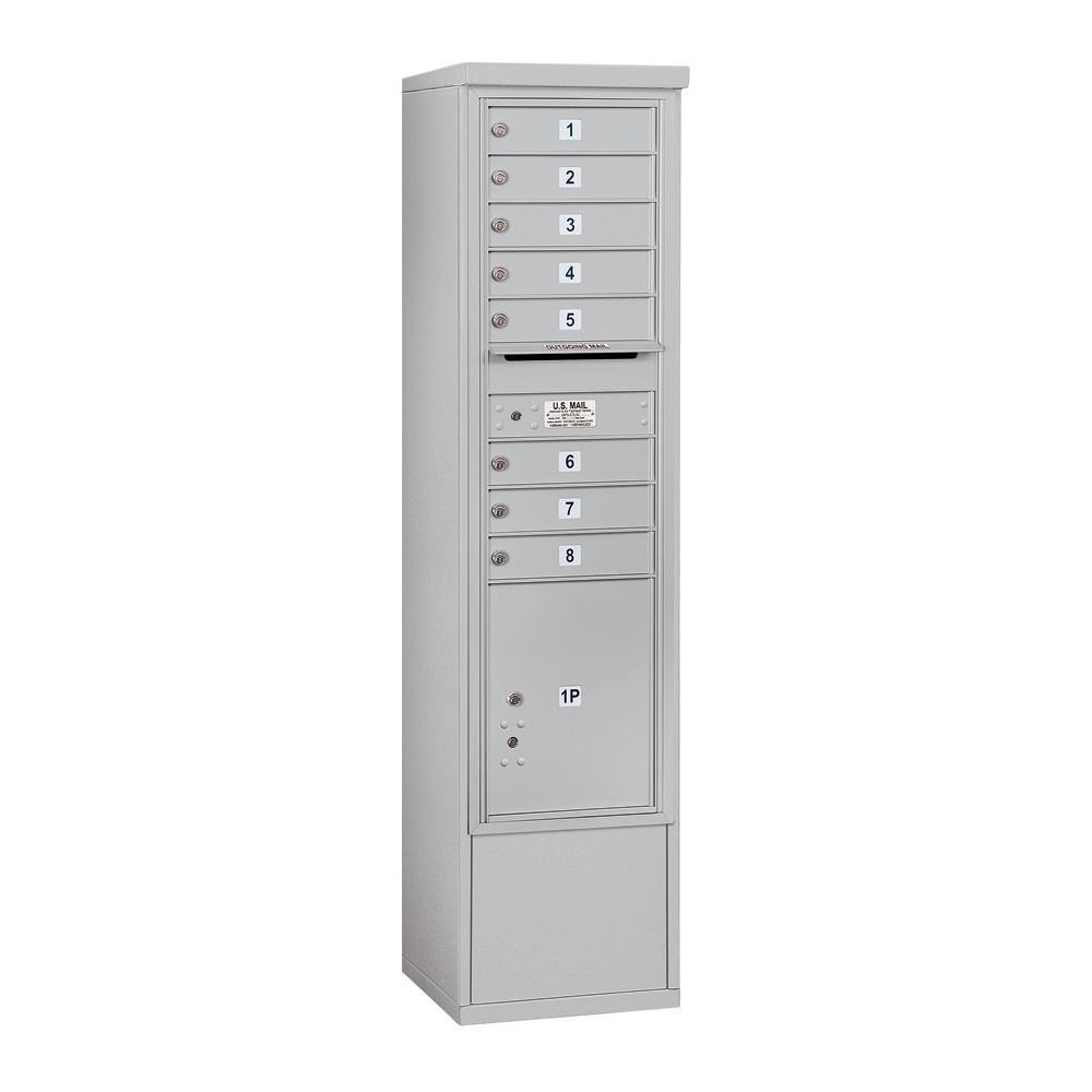 3900 Horizontal Series 8-Compartment 1-Parcel Locker Free Standing Mailbox