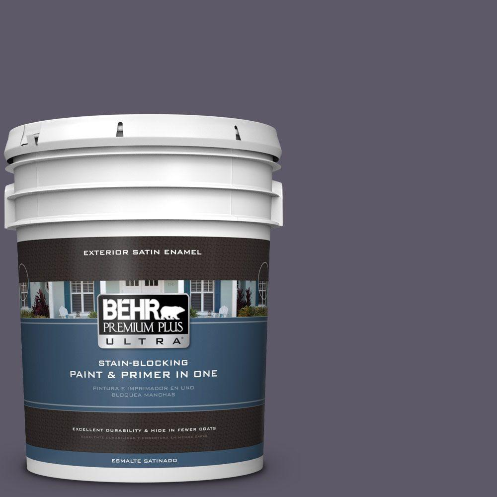 BEHR Premium Plus Ultra 5-gal. #S570-7 Voodoo Satin Enamel Exterior Paint