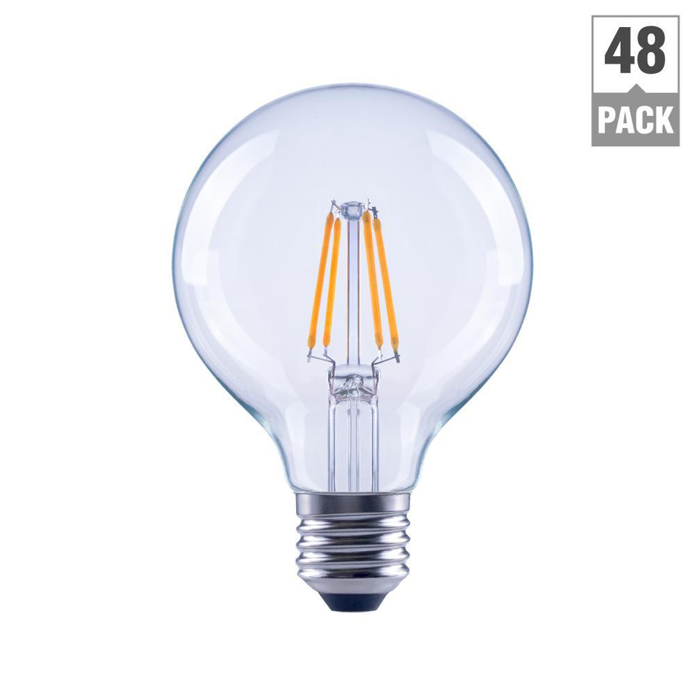 Ecosmart 40w Equivalent Soft White G25 Dimmable Filament: EcoSmart 40-Watt Equivalent G25 Dimmable Energy Star Clear