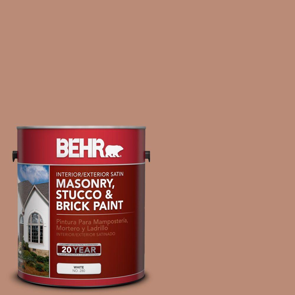 1-gal. #MS-04 Barely Dawn Satin Interior/Exterior Masonry, Stucco and Brick Paint