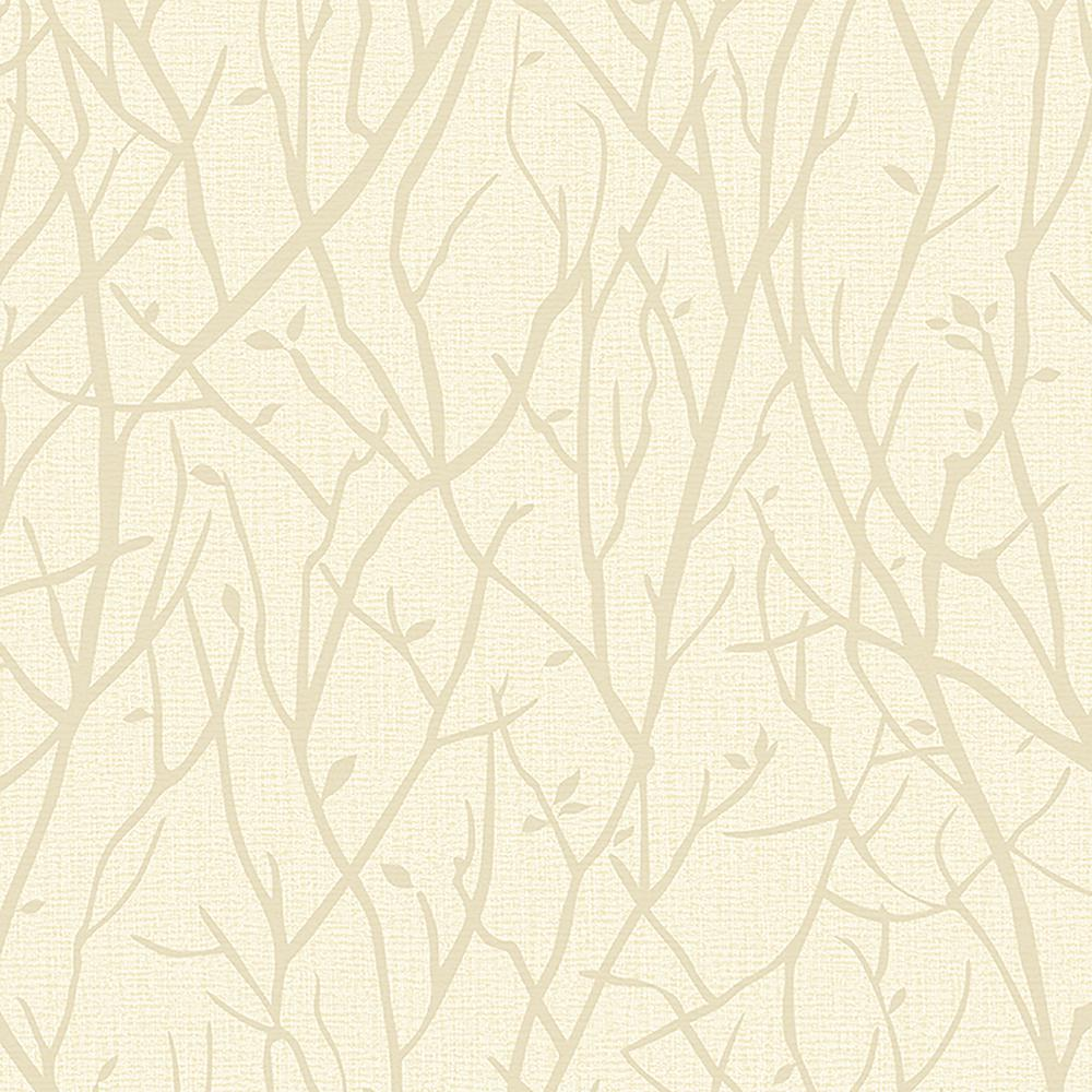 Advantage Advantage 57.8 sq. ft. Kaden Champagne Branches Wallpaper, Beige