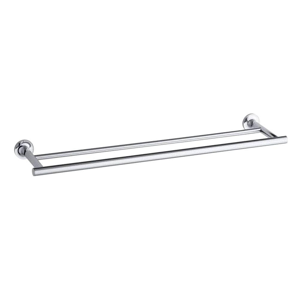 Double Towel Bar In Polished Chrome