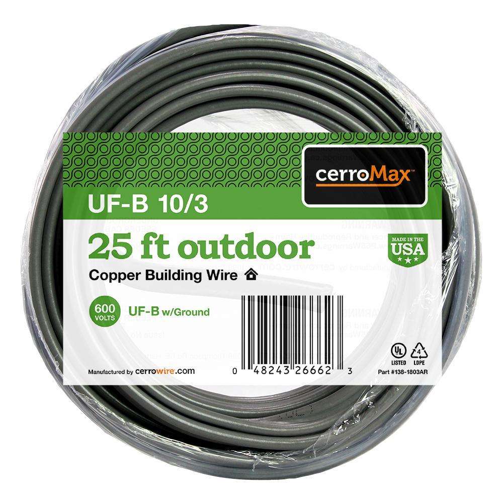 25 ft. 10/3 UF-B Wire