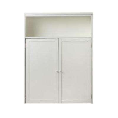 53.5 in. x 40 in. 2-Door Hutch in Picket Fence