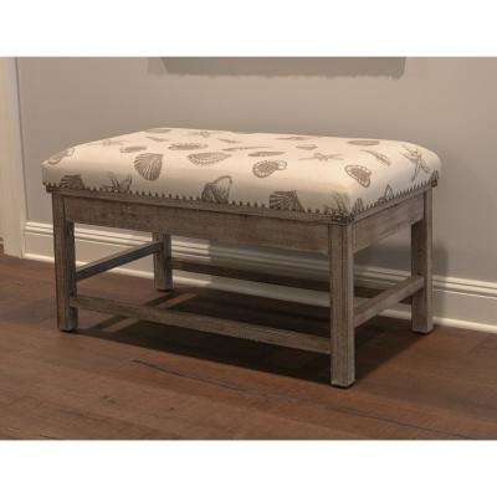 Farley Gray Upholstered Bench