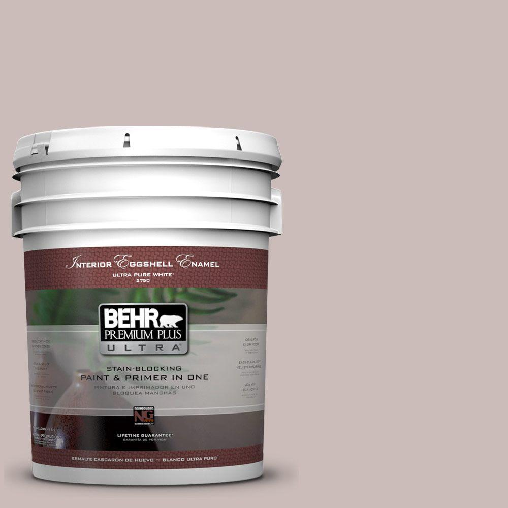 BEHR Premium Plus Ultra 5-gal. #750A-3 Vintage Taupe Eggshell Enamel Interior Paint, Purples/Lavenders