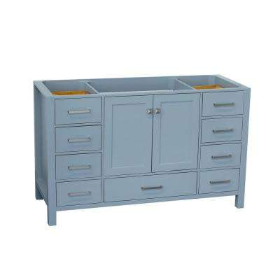 Cambridge 54 in. W Vanity Cabinet Only in Grey