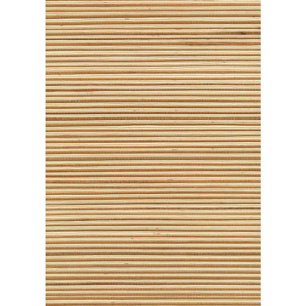 Kenneth James 72 sq. ft. Chou Beige Grasscloth Wallpaper 53-65407