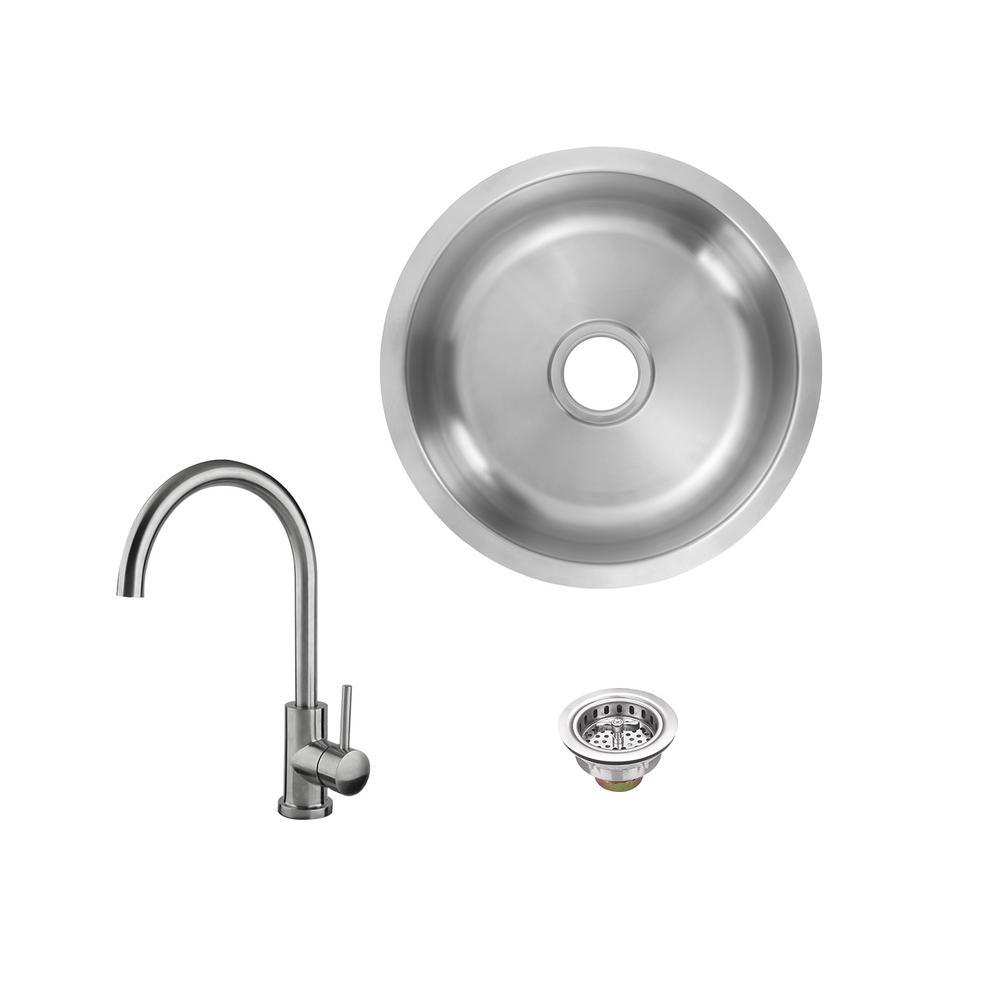 Circular - Bar Sink - Kitchen Sinks - Kitchen - The Home Depot
