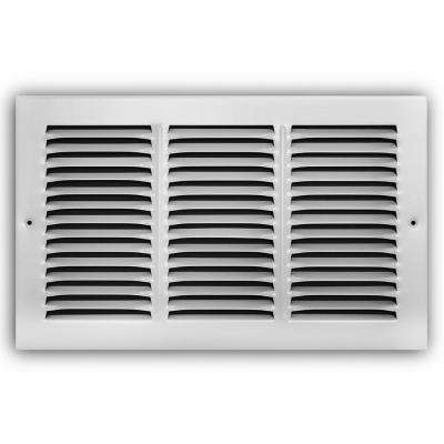 14 in. x 8 in. White Return Air Grille