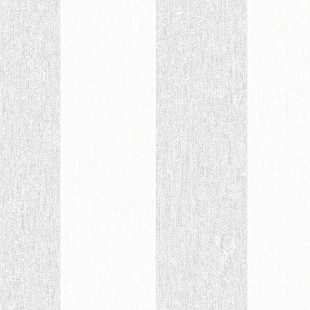 Gray Calico Stripe Removable Wallpaper