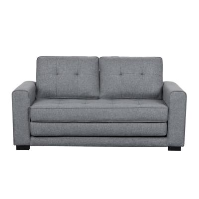 Bray 58 in. Light Gray Linen 2-Seater Twin Sleeper Sofa Bed with Removable Cushions