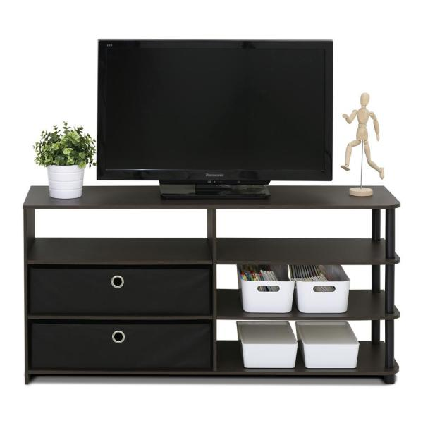 Furinno Jaya Walnut Simple Design TV Stand