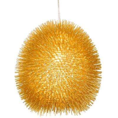 Urchin 1-Light Gold Pendant