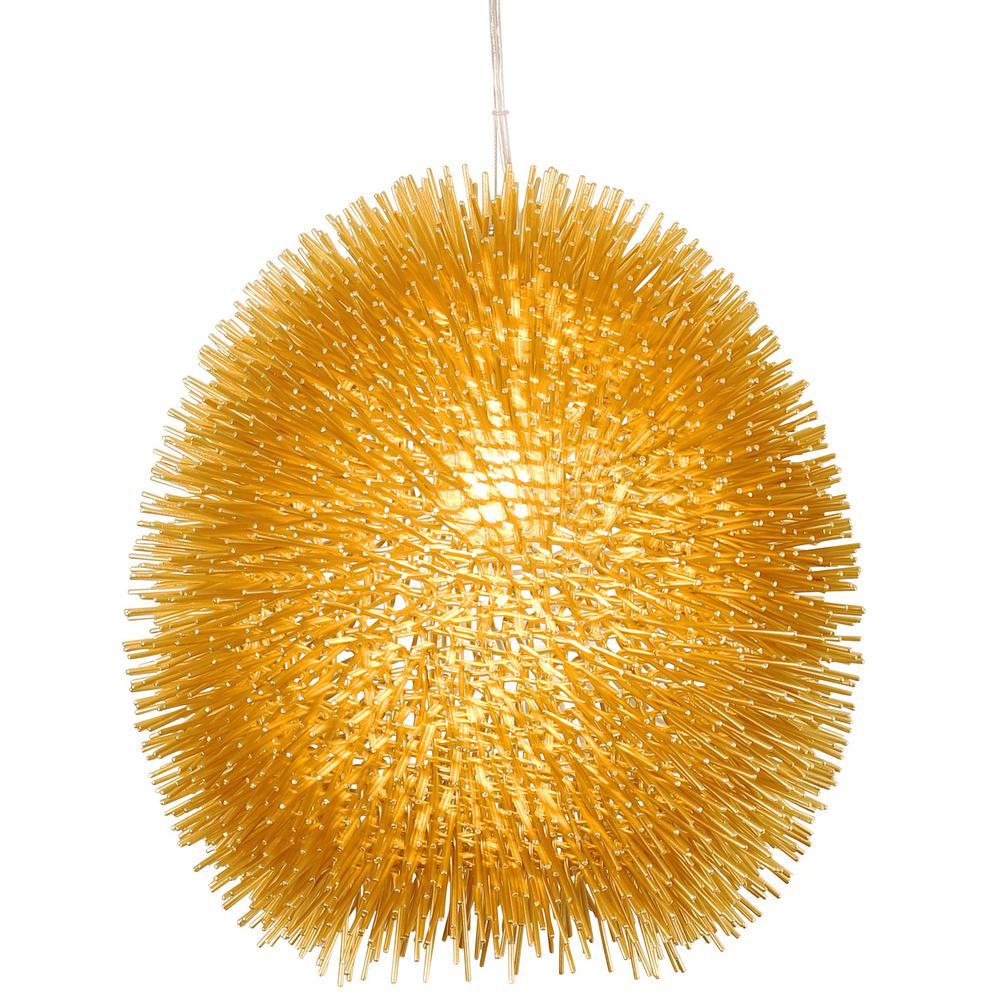 urchin 1light gold pendant