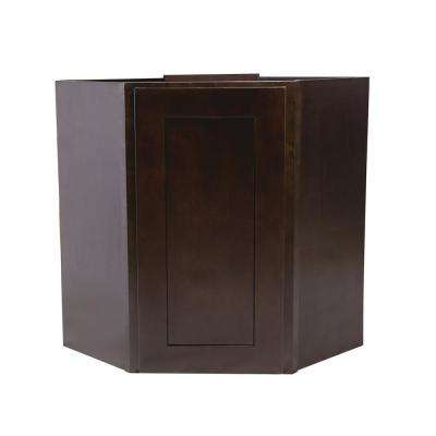 Brookings Fully Assembled 24x30x12 in. Kitchen Corner Wall Cabinet in Espresso