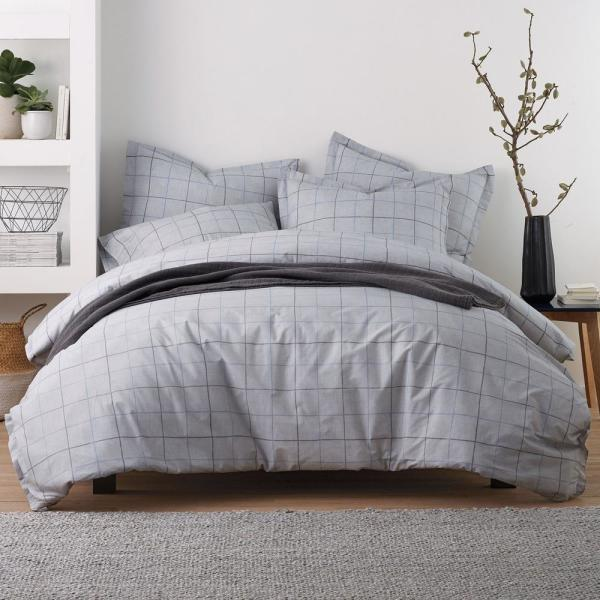 The Company Store Bentley LoftHome Square Queen Duvet Cover 50207D-Q-SQUARE
