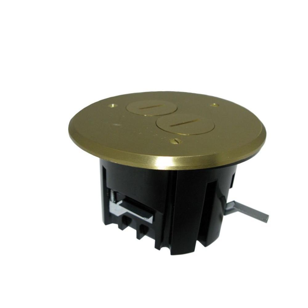 Duplex Device 24 1 2 Cu In Old Work Round Floor Box With
