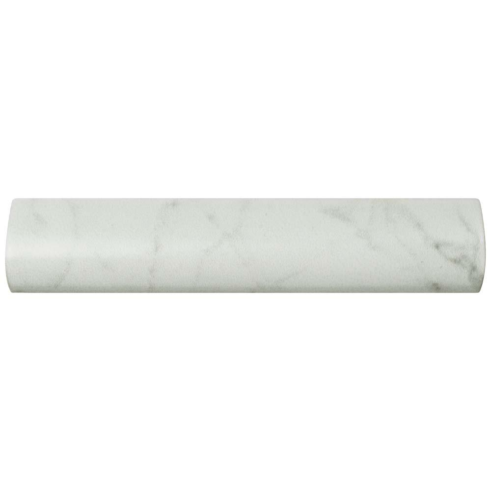 Merola Tile Clico Carrara Matte Pencil Bullnose 1 4 In X 6 Ceramic Wall Trim Weqcrmpb The Home Depot